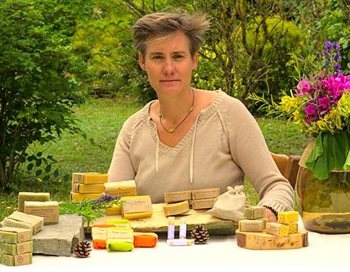 Géraldine, créatrice de la savonnerie